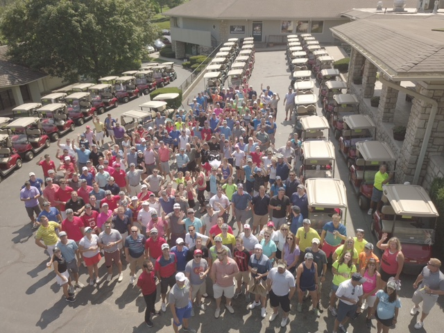 The 2017 crowd at the For Pete's Sake Golf Tournament